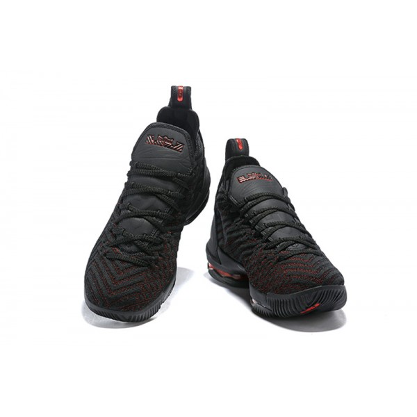 Nike LeBron 16 Bred Black and Red For Men
