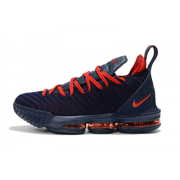 New Release Nike LeBron 16 Obsidian Red Basketball Shoes For Men