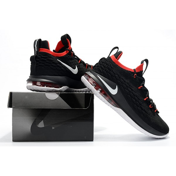 Nike LeBron 15 Low Black White Red  For Men