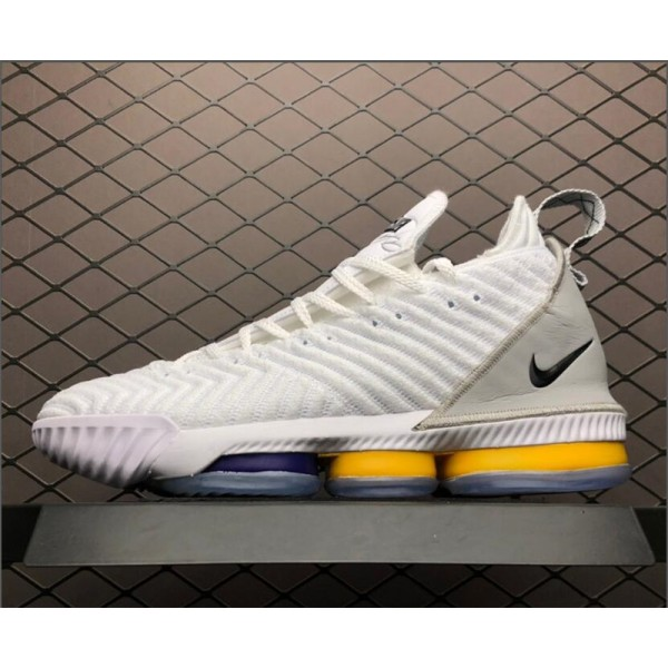 Nike LeBron 16 White Grey-Orange Basketball Shoes For Men