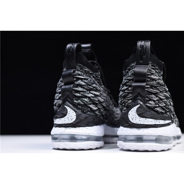 Nike LeBron James 15 High Ashes Black White For Men