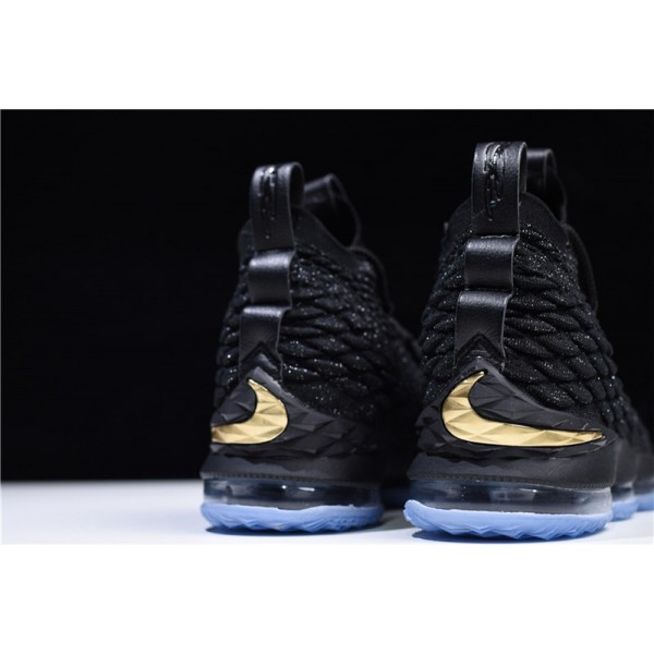 Nike James LeBron 15 EP Black Metallic Gold Basketball Shoes For Men