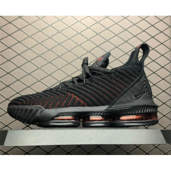 Nike LeBron 16 Fresh Bred Black University Red For Men
