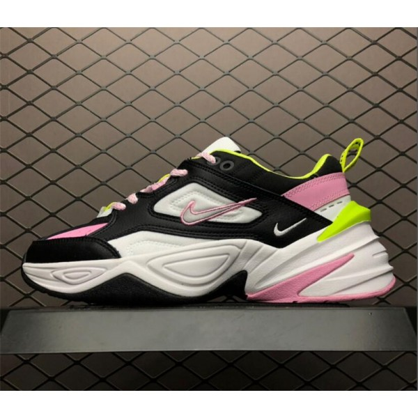 Nike M2K Tekno GS Pink Rise Black Metallic Silver For Women
