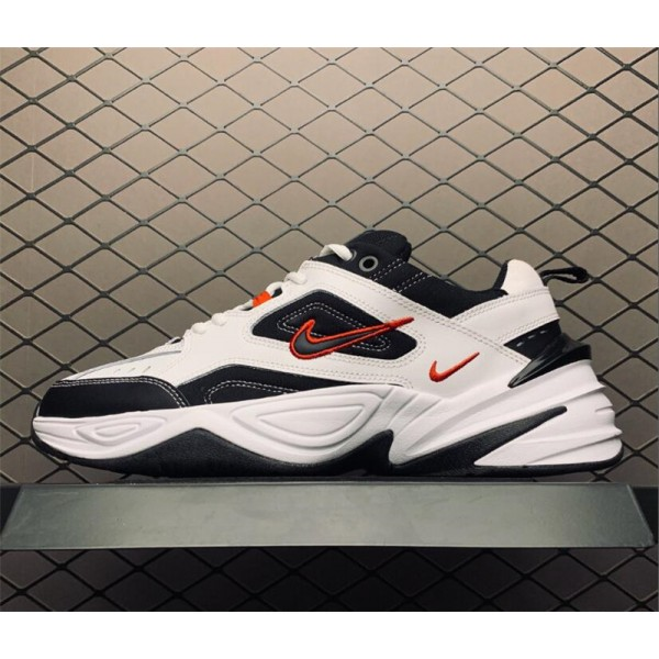 Nike M2K Tekno White Black and Red Dad Shoes For Men