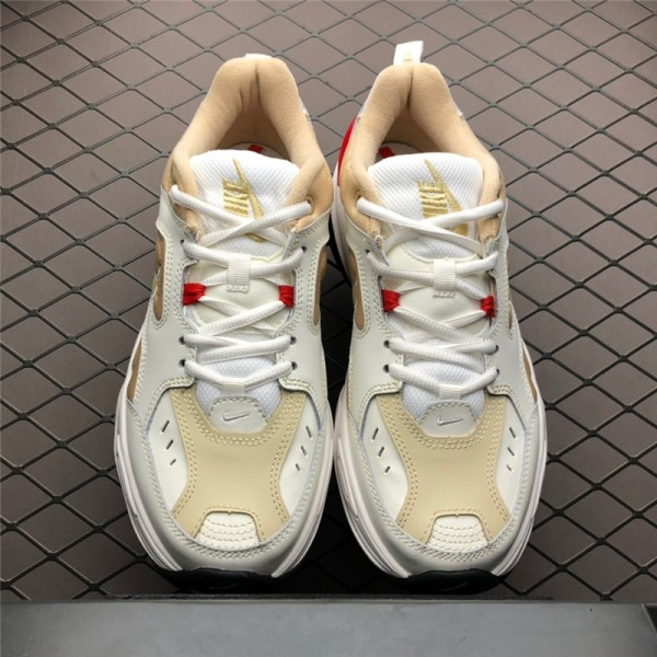 Nike M2K Tekno White Yellow Red-Black Shoes