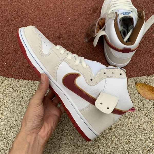 Nike SB Dunk High Sail Team Crimson CV9499-100