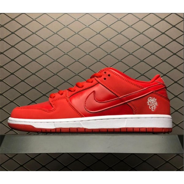Dont Cry x Nike SB Dunk Low University Red White