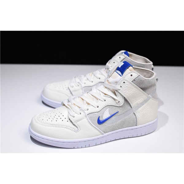 Soulland x Nike SB Dunk High Sail Game Royal-White For Men