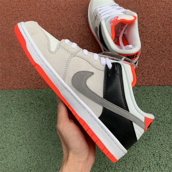 New Nike SB Dunk Low Infared White Cement Grey