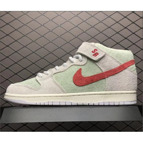 Nike SB Dunk Mid White Widow Sail Gym Red-Fresh Mint