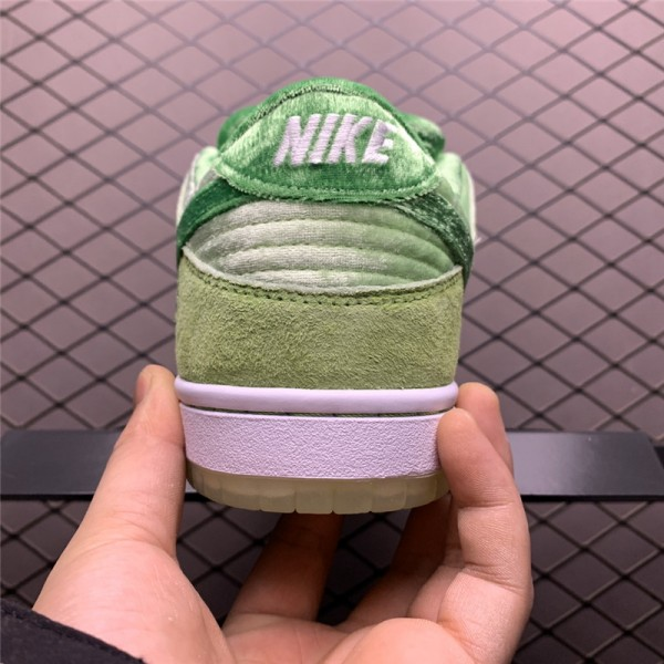 StrangeLove Skateboards x Nike SB Dunk Low Velvet Melon Green