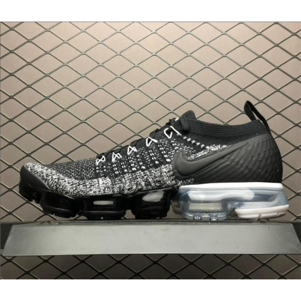Nike Air VaporMax Flyknit 2 Black White-Grey For Men