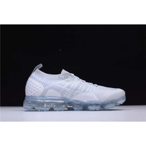 Nike Air VaporMax Flyknit 2.0 White Grey Sneakers For Men