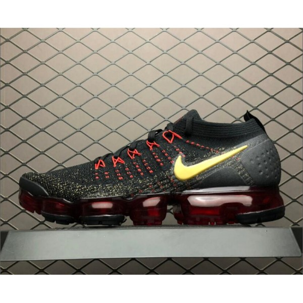 Nike Air VaporMax 2.0 CNY Black Metallic Gold-University Red For Men