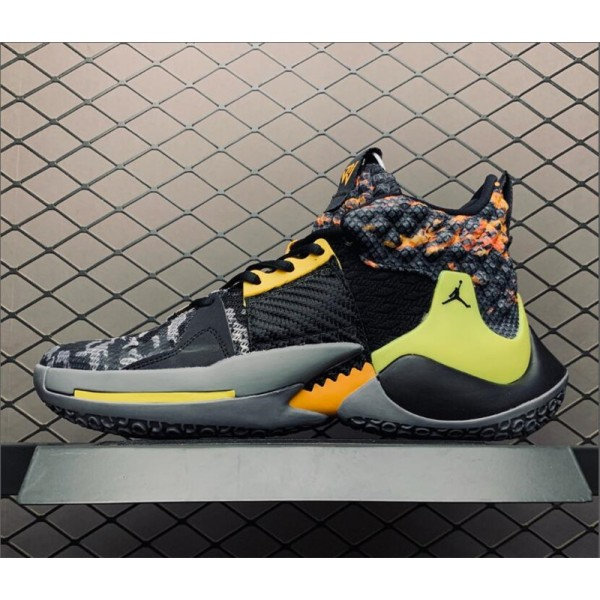 Nike Air Jordan Why Not Zer0.2 Black Yellow For Men